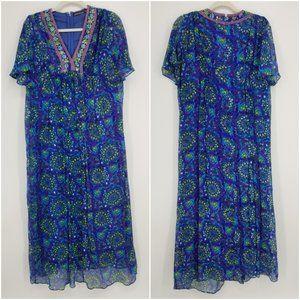 Antik Batik Bora Silk Maxi Dress M
